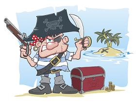 Pirate image licensed by Erik J. Heels from iStockphoto.com.  Buy yer own copy, scurvy rat!