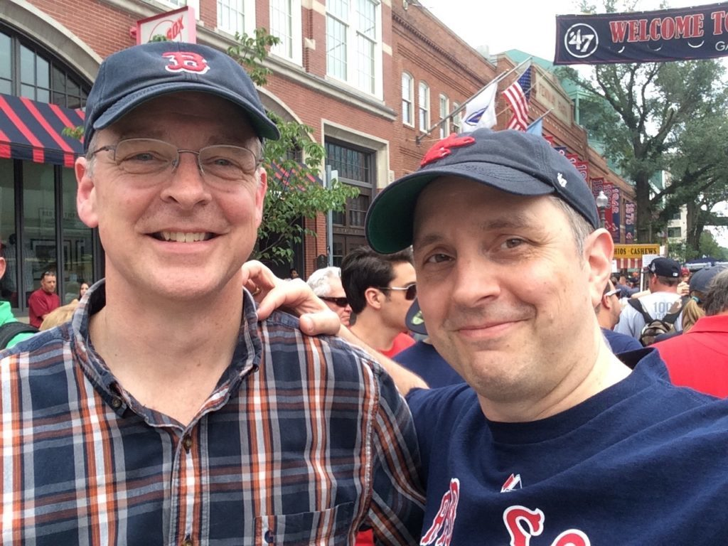 2015-06-23 - Mark Heels and Erik Heels at a Red Sox game at Fenway Park in Boston on Mark's birthday.